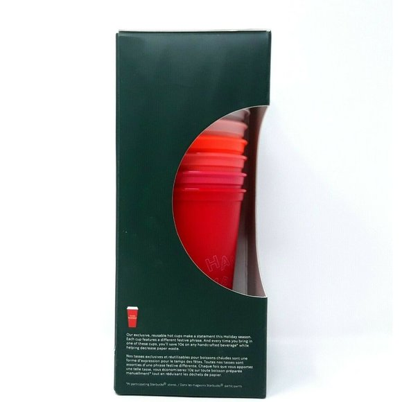 Starbucks Holiday 2019 Stack Able Reusable 6 Hot C